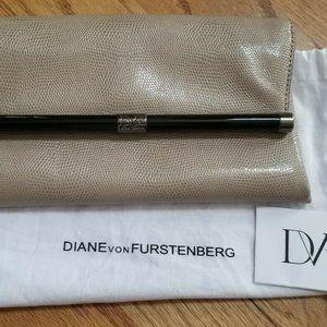 New Authentic Diane von Furstenberg Clutch Purse